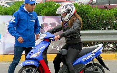 Exitosa jornada de las clases de conducción Yamaha